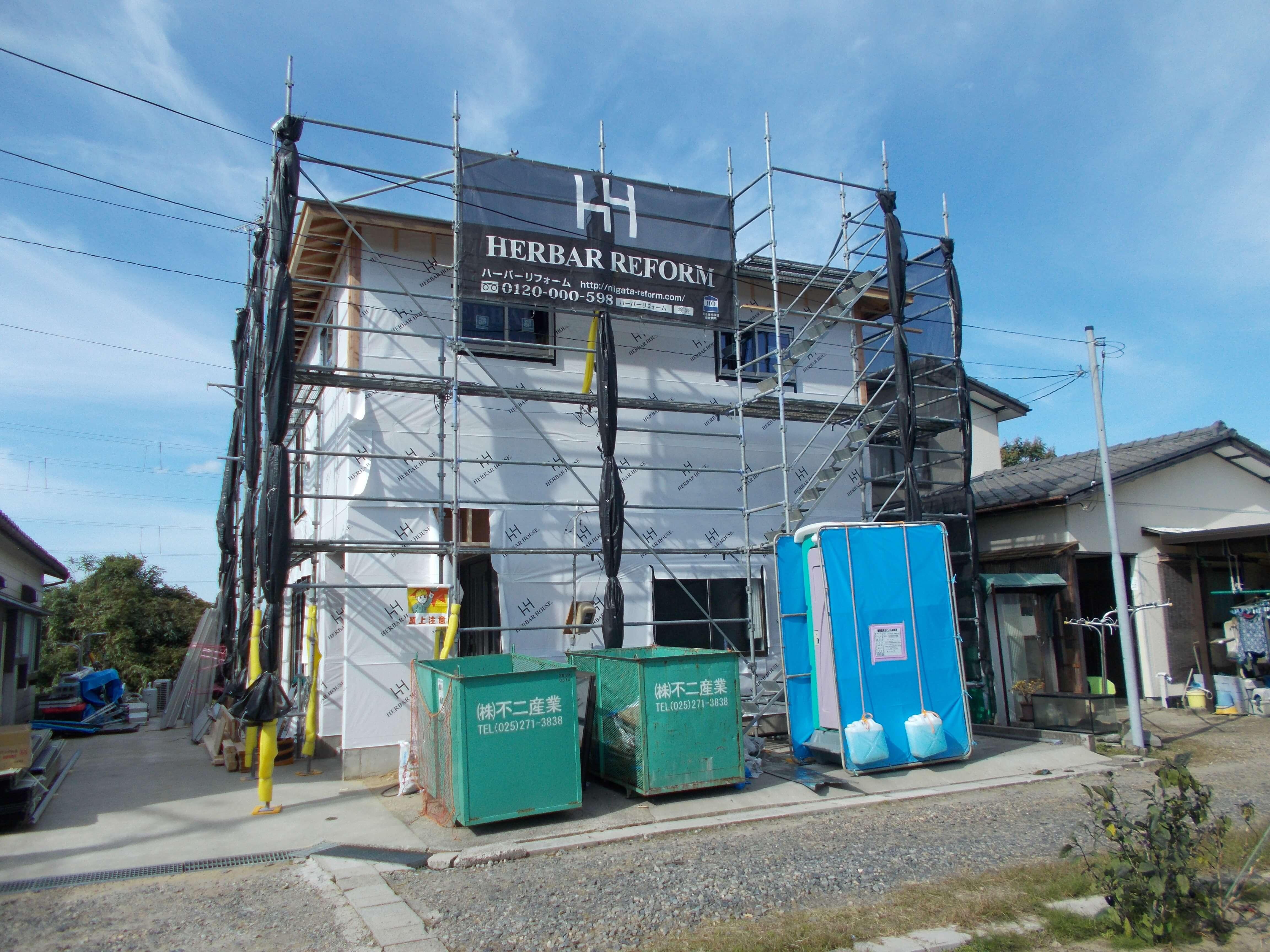 A様邸増築工事終盤です
